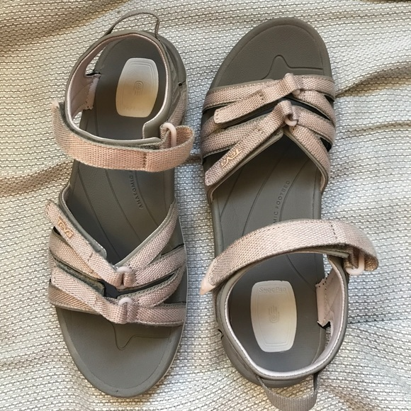 5403efb39605 NWT Women s Rose Gold Teva Sandals